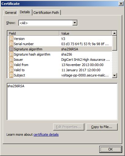 SSL Issue on Windows Server 2003